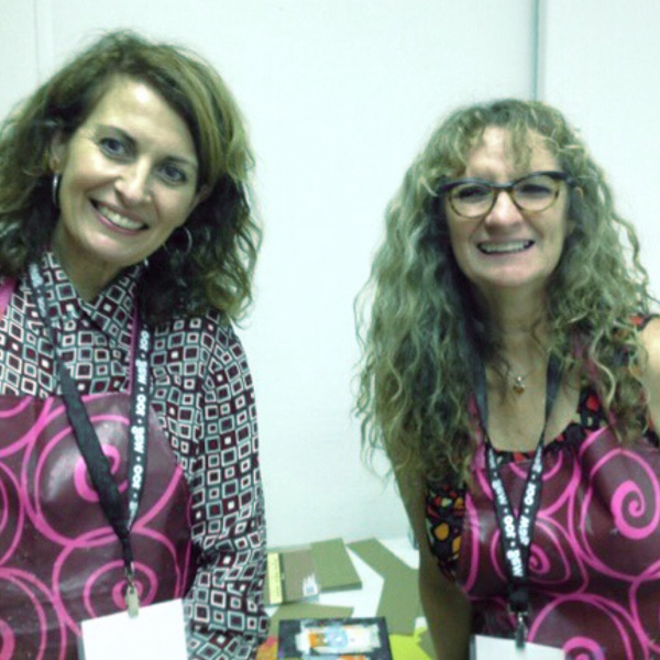 A photo of Carmela Wade and Sandra Brown