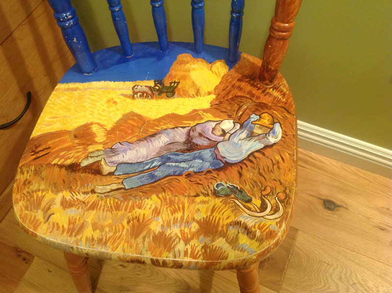 Sandra Brown Van Gogh painted on a chair